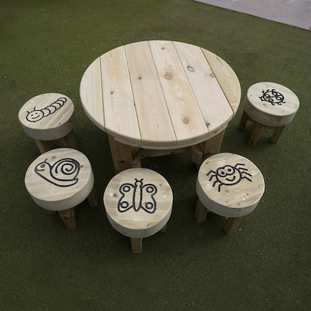 Bug Table and Five Stools  large
