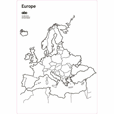 Europe and British Isles Whiteboard Set A3  large