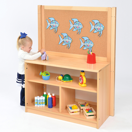 Room Scene Open Bookcase With Divider  large