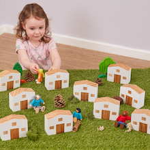 Small World Street Houses 10pk  medium