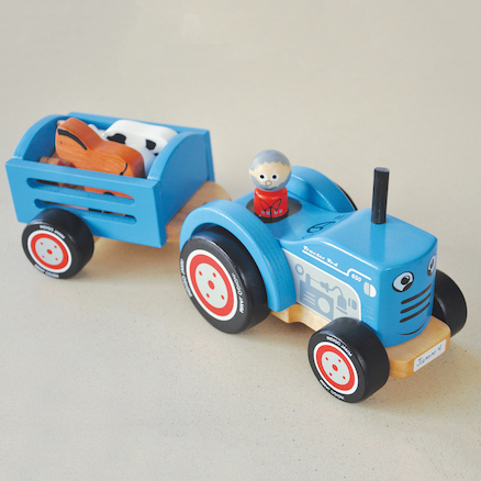 Toddler Wooden Tractor Set  large