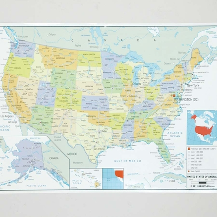 USA Political map A1  large