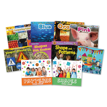 Early Maths Shapes and Colours Books 10pk  medium