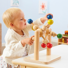 Wooden Manipulative Spinning Toy  medium