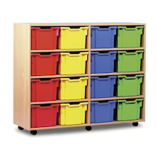 Mobile Tray Storage Unit With 16 Extra Deep Trays  medium