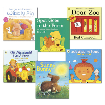 Toddler Books With Flaps 6pk  large