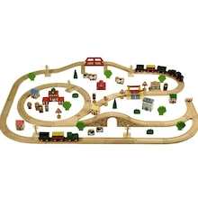 Wooden Train Set 100pcs  medium