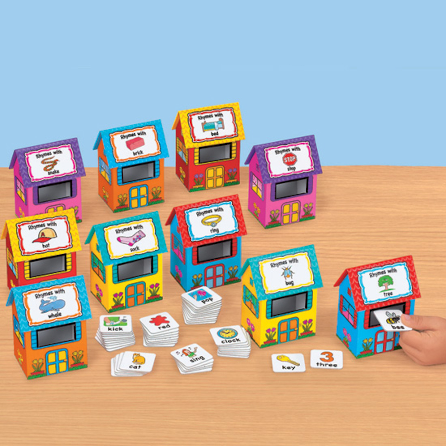 Free Home Design Create Play Educational Quiz Games: Buy Rhyme Houses Sorting And Posting Game 60pcs