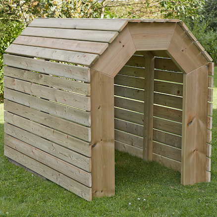 Outdoor Wooden Tunnel  large
