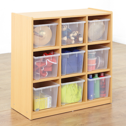 Open Storage Unit with Nine Large Compartments  large