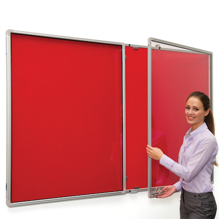 FlameShield Framed Lockable Noticeboards  large
