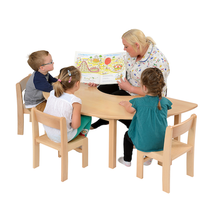 Teachers Beech Horseshoe Table  large