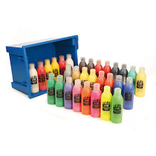 Assorted Ready Mixed Paint Tray 300ml 30pk  medium