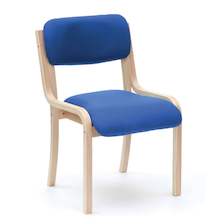 Prague Wooden Frame Stackable Chairs  medium