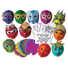 Decorate Your Own Mardi Gras Carnival Masks 30pk  medium