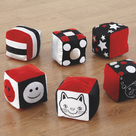 Baby Black and White Soft Cubes 6pk  large