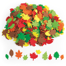 Foam Leaf Shapes Assorted 500pk  medium