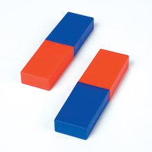 Colour Coded Plastic Cased Magnets 2pk  medium