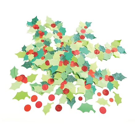 Holly and Berries Paper Display Shapes 300pk  large