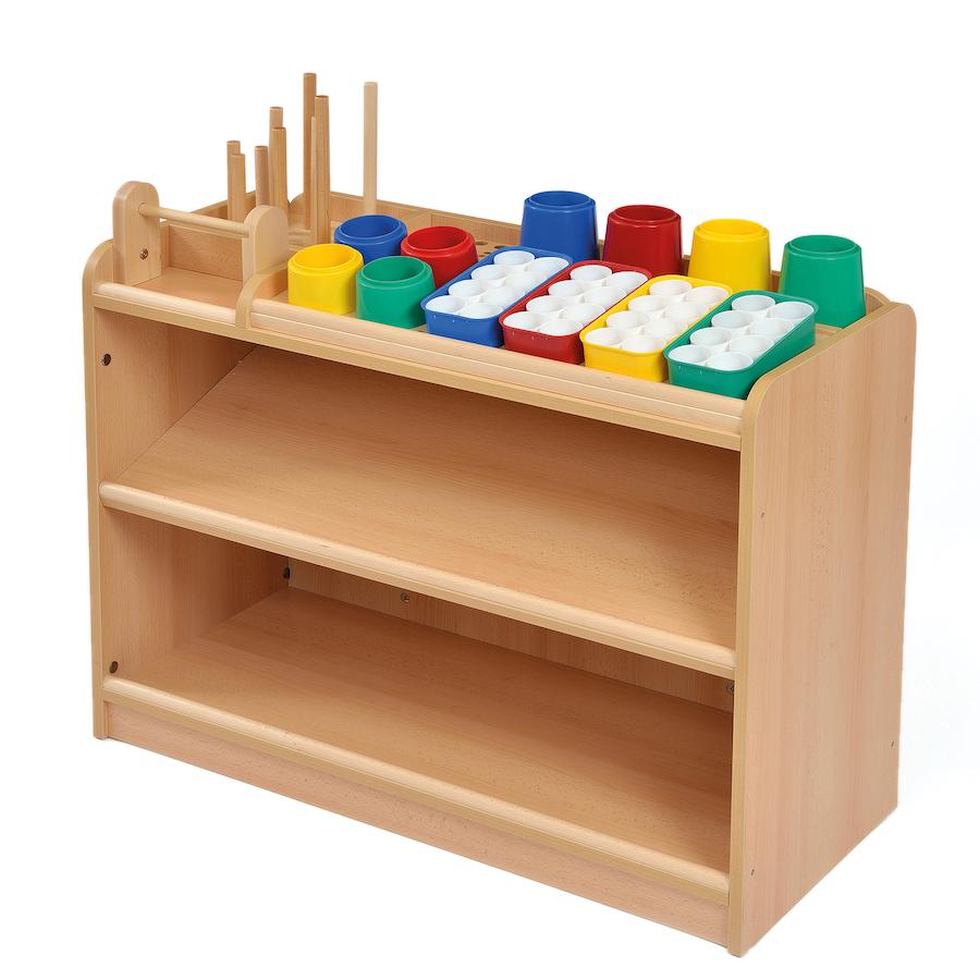 Wooden Storage Furniture ~ Buy room scene art and craft storage unit tts