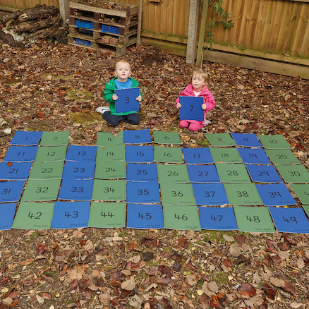Outdoor Number Mats 1\-50  large
