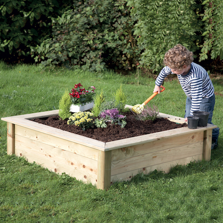 Wooden Mini Square Sandbox and Planter  large