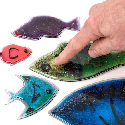 Squidgy Sparkle Fish 6pk  large