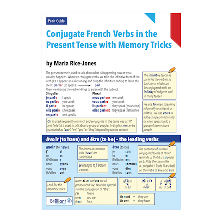 French Verbs in Present Tense Petit guide  large