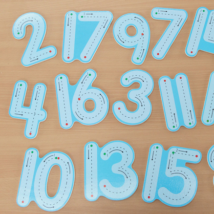 Wooden Wipe Clean Number Formation Set 1\-20  large