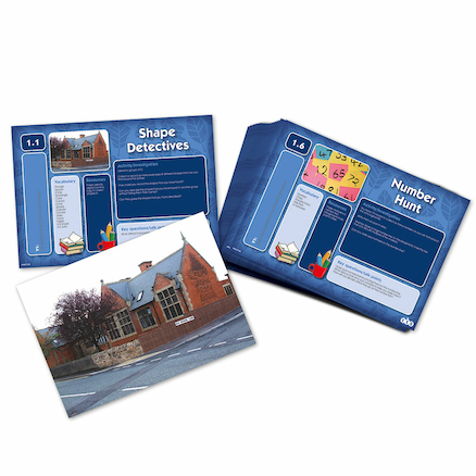 Outdoor Maths Problem Solving Cards  large