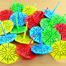 Plastic Number Spinners 1-10  medium