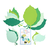 Jumbo Spring and Summer Assorted Paper Leaves 30pk  small