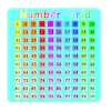 Coloured Number Grid Signboard  small