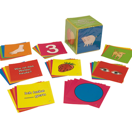 German Vocabulary Dice Inserts Cards  large