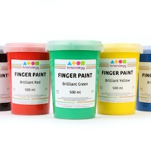 Assorted Washable Finger Paints 6pk  medium