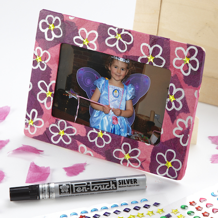 Decorate Your Own Wooden Craft Photo Frames 12pk
