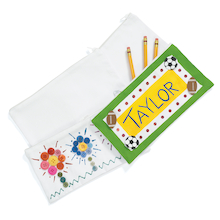 Decorate Your Own Canvas Pencil Case White 12pk  medium