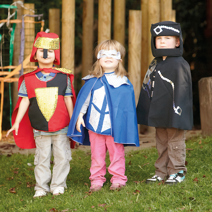 Super Hero Dress Up Set, Cape, Mask and Gauntlet  large