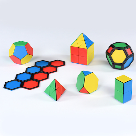 Solid Magnetic Polydron Set  large