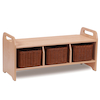 Millhouse Cloakroom Storage Bench Large  small