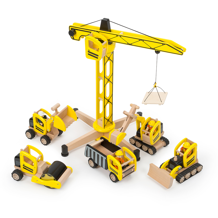 Construction Site Toys : Buy small world wooden construction site set tts