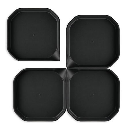 Messy Trays Black 4pk  large