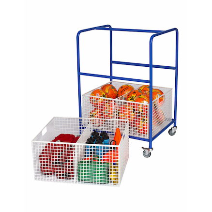 Wire Basket Equipment Trolley L75 x H105 x W59cm  large