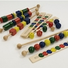 Wooden Coloured Sequencing Beads  small