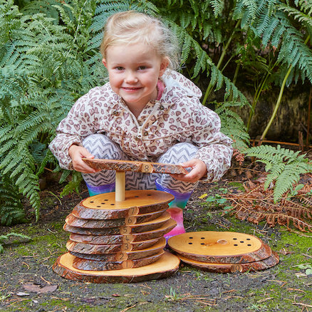 Wooden Rustic Number Stacker 1\-10  large