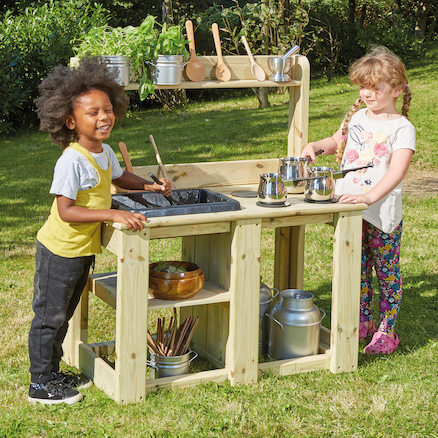 Outdoor Wooden Messy Mud Kitchen  large