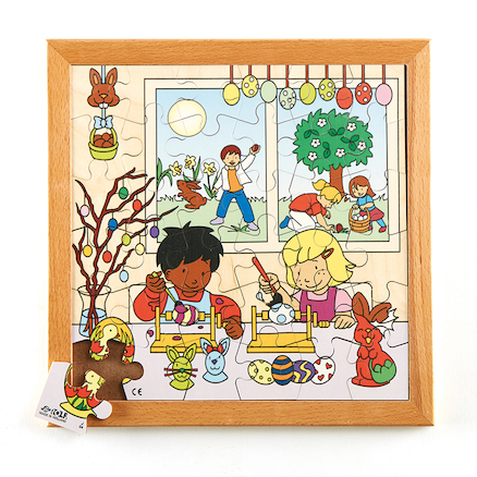 Wooden Framed Festival Jigsaw Puzzle  large