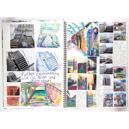 Pisces Spiral Sketchbooks Black A4 140gsm  large