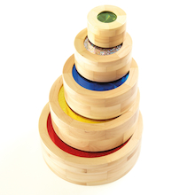 Wooden Stacking Sparkle Cylinders 5pk  medium
