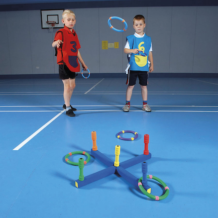 Foam Quoits Target Game with 6 Quoits and Target  large